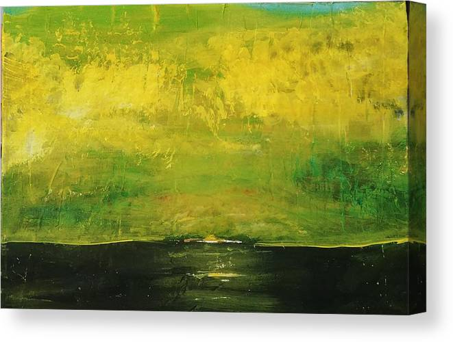 Country Canvas Print featuring the painting Prarie at Sunrise by J Bauer