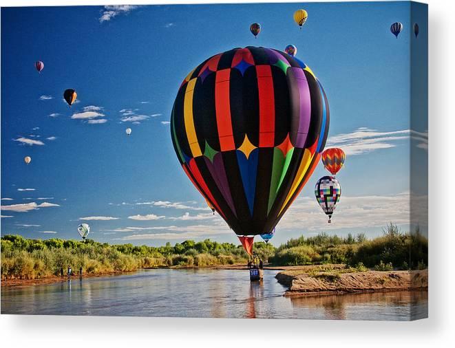 Nature Canvas Print featuring the photograph Rio Grande Splash Down, New Mexico by Zayne Diamond Photographic