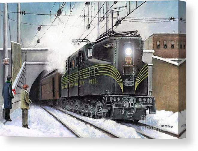 Pennsylvania Railroad Canvas Print featuring the painting Rivets by David Mittner