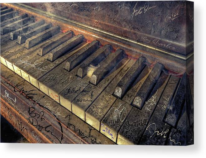 Rock Canvas Print featuring the photograph Rock Piano Fantasy by Mal Bray