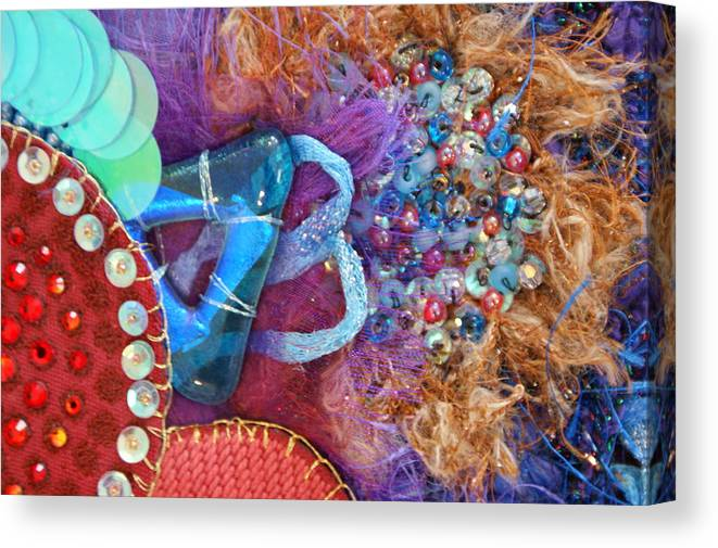 Canvas Print featuring the mixed media Ruby Slippers 8 by Judy Henninger