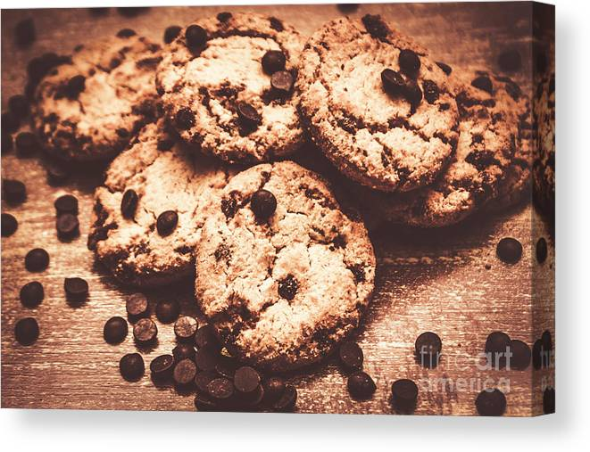 Dessert Canvas Print featuring the photograph Rustic Kitchen Cookie Art by Jorgo Photography - Wall Art Gallery
