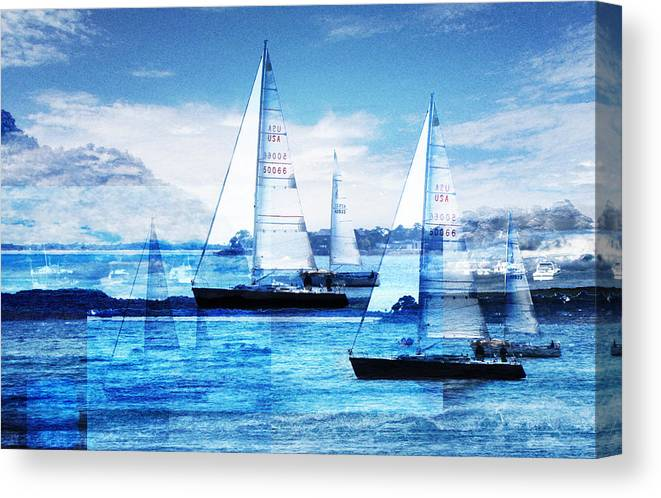 Boats Canvas Print featuring the photograph Sailboats by Matthew Robbins