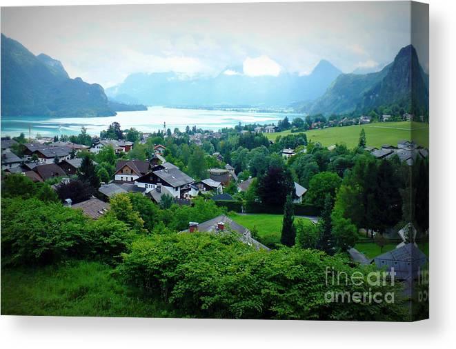 Austria Canvas Print featuring the photograph Salzburg Lake District by Carol Groenen