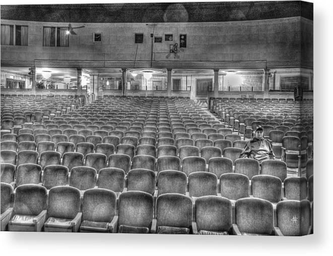 Canvas Print featuring the photograph Senate Theatre Seating Detroit MI by Nicholas Grunas