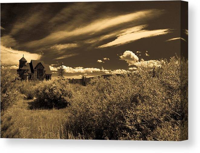 Church Canvas Print featuring the photograph Small Town Church by Marilyn Hunt