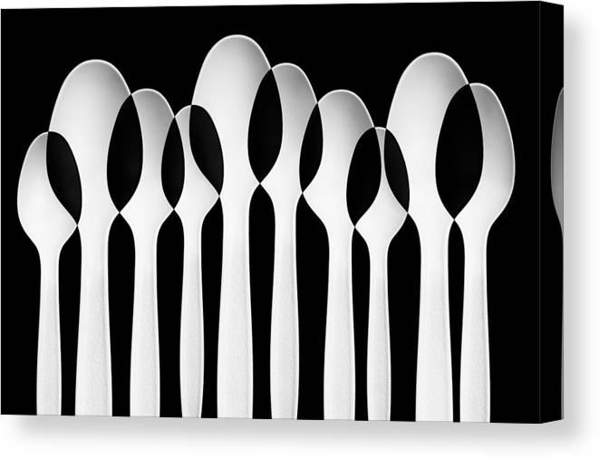 Abstract Canvas Print featuring the photograph Spoons Abstract: Forest by Jacqueline Hammer