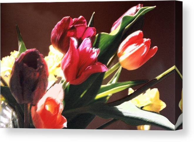 Floral Still Life Canvas Print featuring the photograph Spring Bouquet by Steve Karol