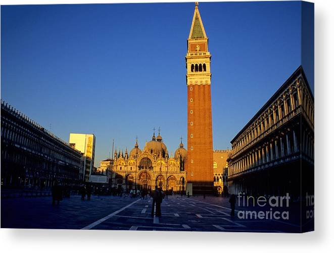 Italy Canvas Print featuring the photograph St Marks In Venice In Afternoon Sun by Michael Henderson