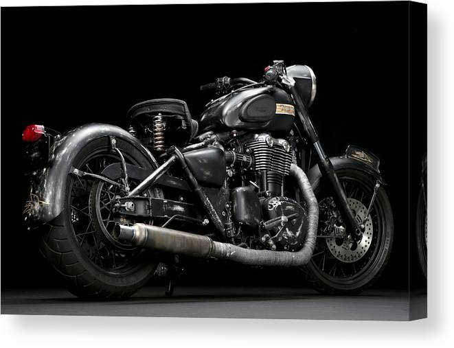 Triumph Canvas Print featuring the photograph Suckerpunch Sally by Keith May