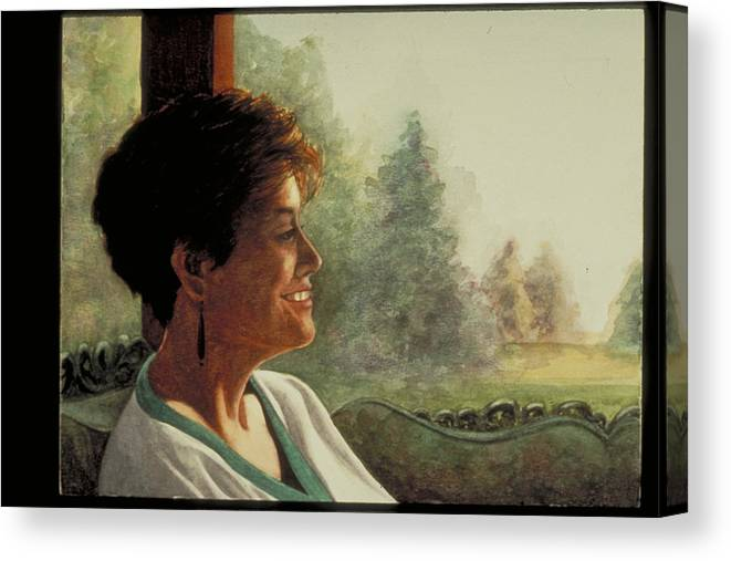 Watercolor Canvas Print featuring the painting Summer Afternoon by Nancy Ethiel
