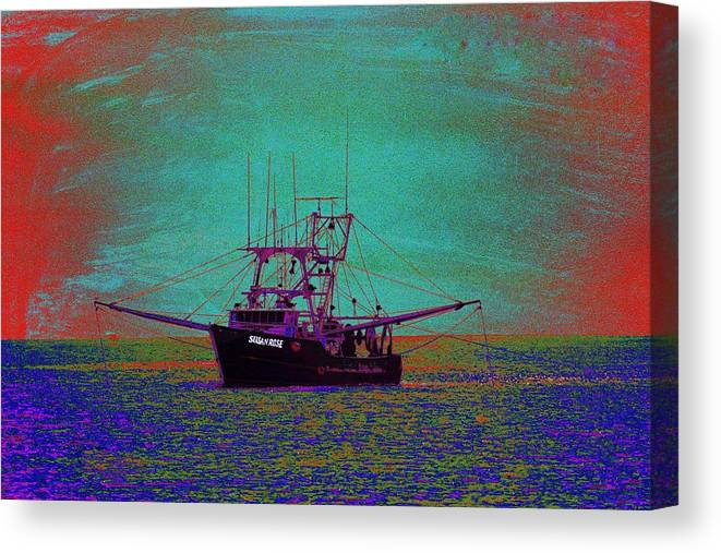 Susan Rose Canvas Print featuring the photograph Susan Rose by Richard Henne