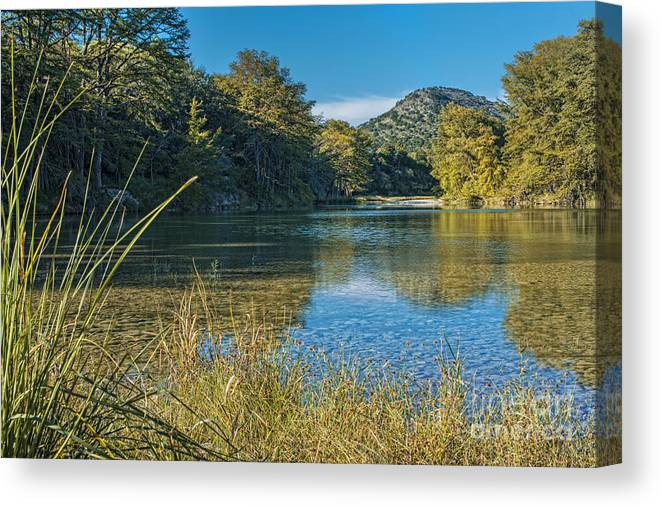 Texas Hill Country Canvas Print featuring the photograph Texas Hill Country - The Frio River by Andre Babiak