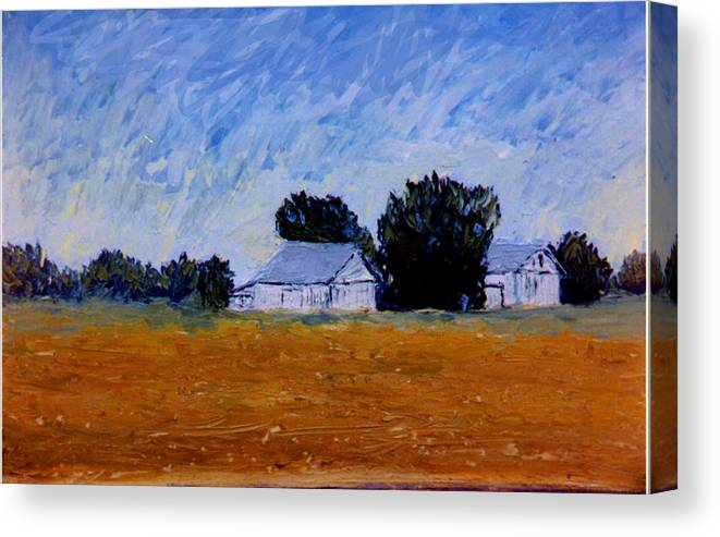 Knife Oili Canvas Print featuring the painting The Farm by Stan Hamilton