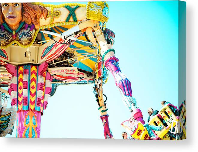 Carnival Ride Canvas Print featuring the photograph The Fighter by Kim Fearheiley
