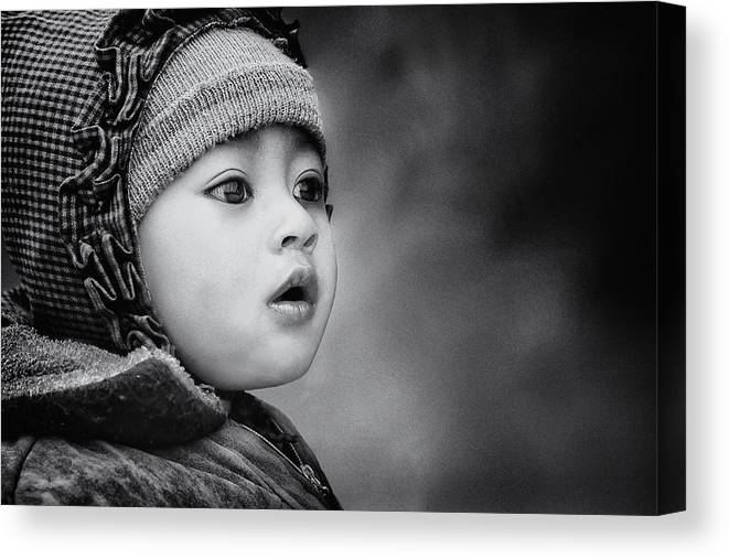 Kid Canvas Print featuring the photograph The Kid From Sarangkot by Piet Flour