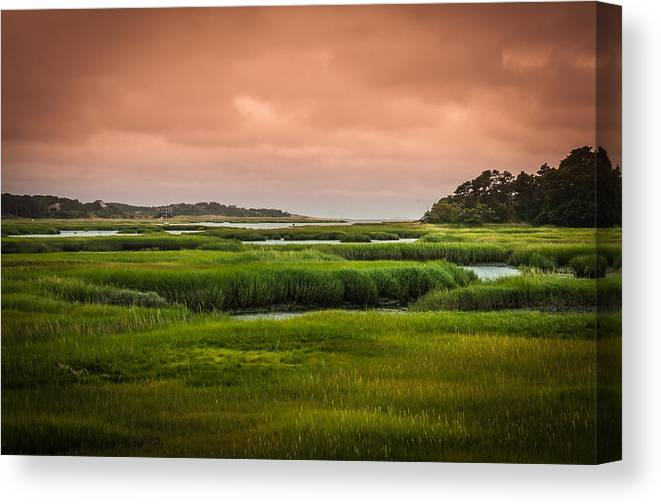 Duck Creek Marsh Canvas Print featuring the photograph The Salt Marsh by Heather Hubbard