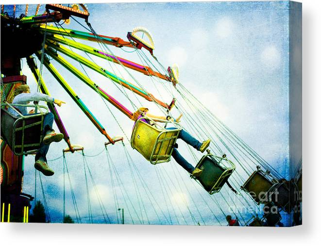 Carnival Canvas Print featuring the photograph The Swings by Kim Fearheiley