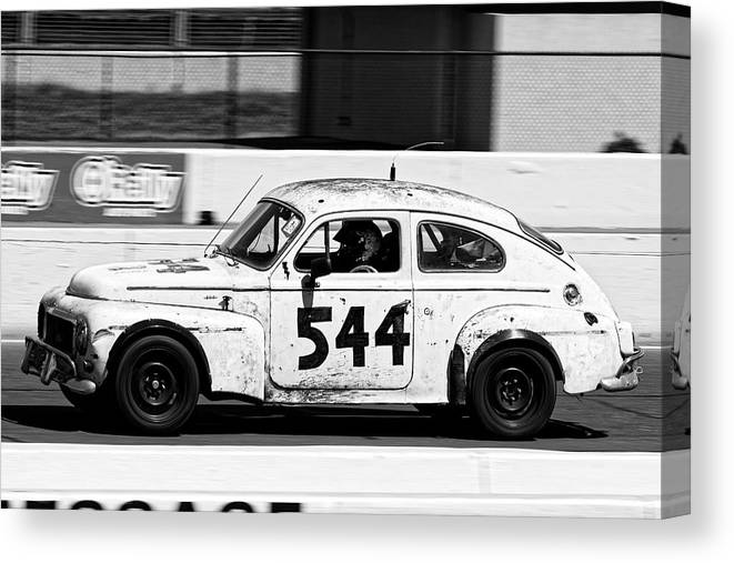 Sports Canvas Print featuring the photograph The Tortoise -- 1963 Volvo Pv544 At The 24 Hours Of Lemons Race, Sonoma California by Darin Volpe
