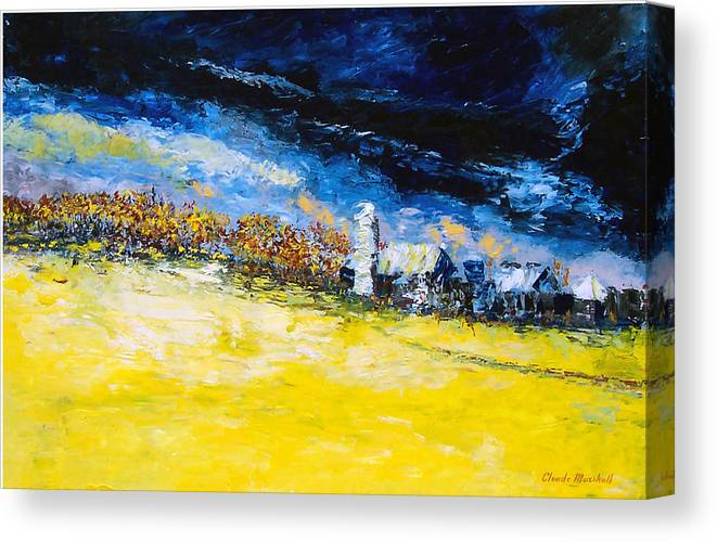 Abstract Canvas Print featuring the painting Thunderstorm by Claude Marshall