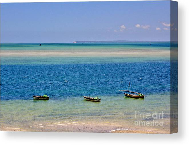 Vilanculos Canvas Print featuring the photograph Tide Colours by Jeremy Hayden