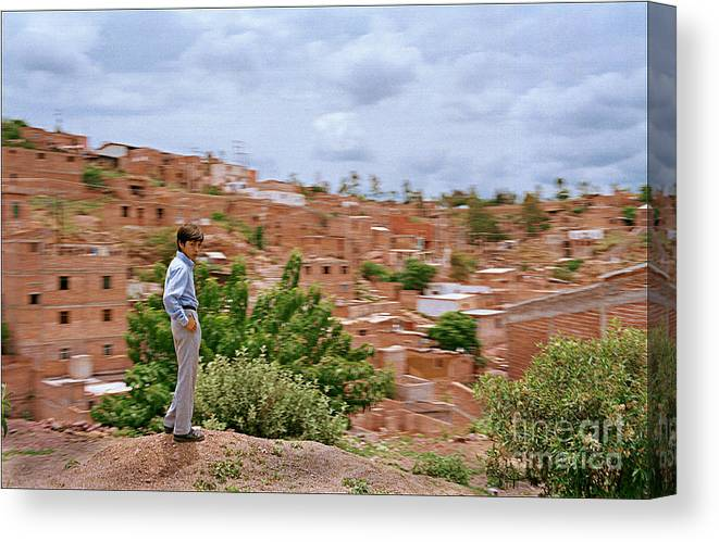 Landscape Culture Boy Houses Hill Canvas Print featuring the photograph Time Stand Still by Ty Lee