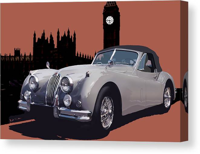 Jaguar Canvas Print featuring the digital art Timeless by Richard Herron