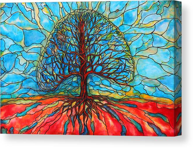 Large Canvas Print featuring the painting Tree of Life by Rae Chichilnitsky
