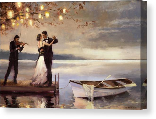 Romantic Canvas Print featuring the painting Twilight Romance by Steve Henderson