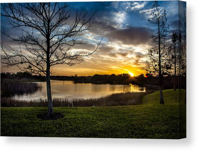Sunrise Canvas Print featuring the photograph Valhalla Sunrise by Norman Johnson