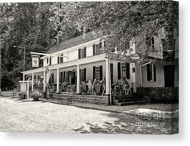 Valley Green Inn Philadelphia Canvas Print featuring the photograph Valley Green Inn Philadelphia 3 by Jack Paolini