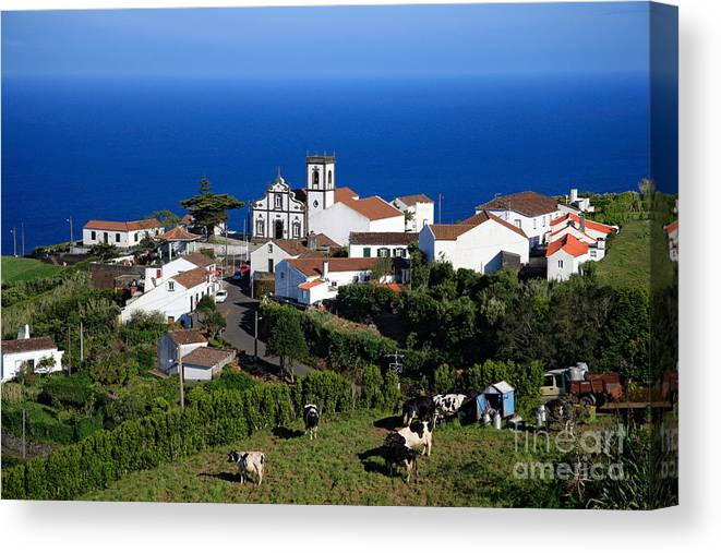 Azores Canvas Print featuring the photograph Village in the Azores by Gaspar Avila