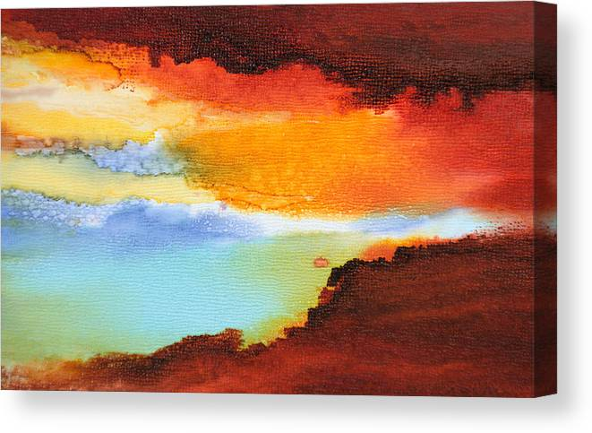 Abstract Canvas Print featuring the painting Visible Love - C - by Sandy Sandy