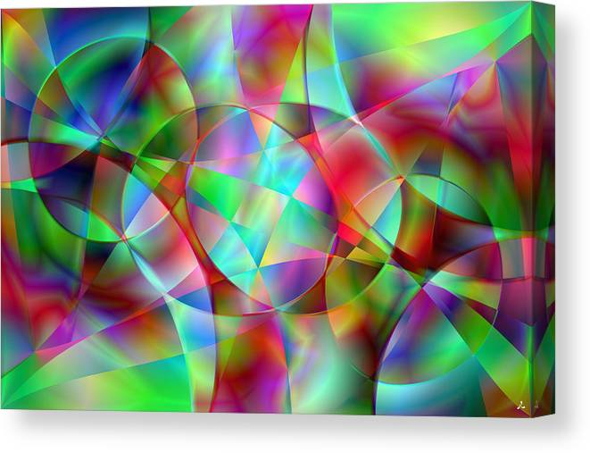 Colors Canvas Print featuring the digital art Vision 27 by Jacques Raffin