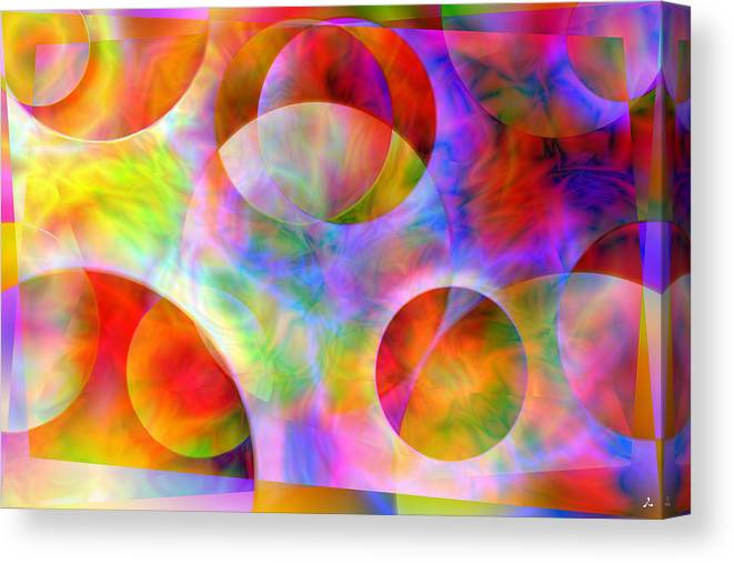 Colors Canvas Print featuring the digital art Vision 29 by Jacques Raffin
