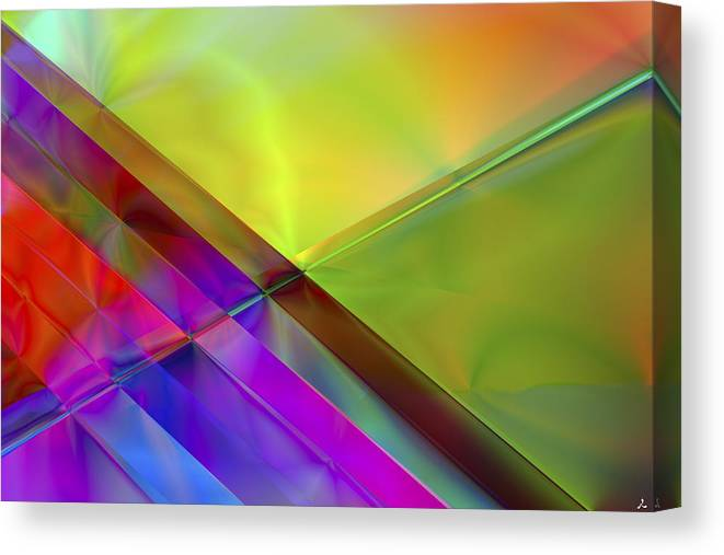 Colors Canvas Print featuring the digital art Vision 3 by Jacques Raffin