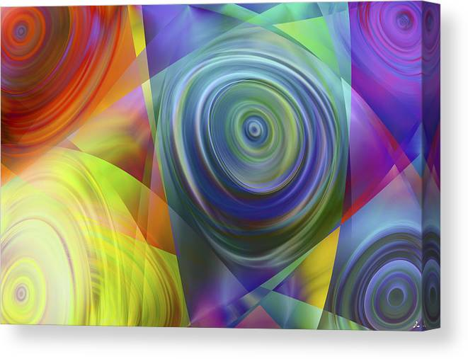 Colors Canvas Print featuring the digital art Vision 39 by Jacques Raffin