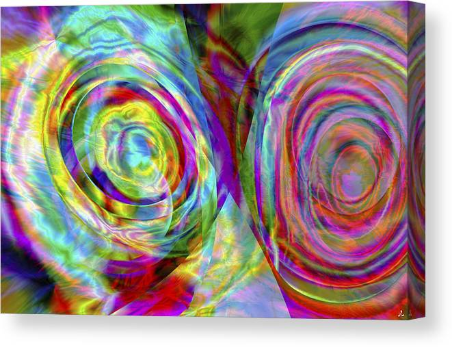Crazy Canvas Print featuring the digital art Vision 44 by Jacques Raffin