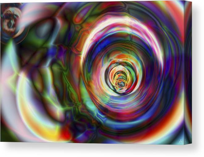 Crazy Canvas Print featuring the digital art Vision 8 by Jacques Raffin