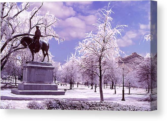 Landscape Canvas Print featuring the photograph Washington Square Park by Steve Karol