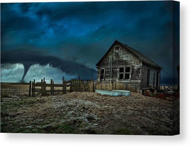 Tornado Canvas Print featuring the photograph Wicked by Thomas Zimmerman