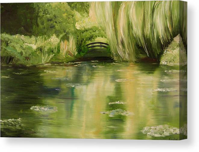 Konkol Canvas Print featuring the painting Willow at Monet by Lisa Konkol