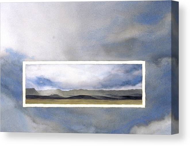 Wyoming Canvas Print featuring the painting Wyoming Skies by Nancy Ethiel