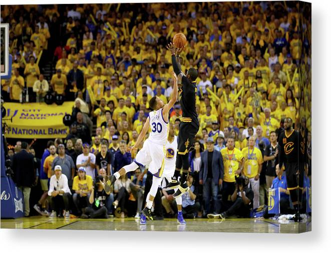 Playoffs Canvas Print featuring the photograph 2016 Nba Finals - Game Seven by Ezra Shaw