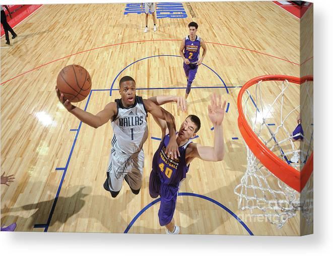 Nba Pro Basketball Canvas Print featuring the photograph 2017 Las Vegas Summer League - Dallas by Garrett Ellwood