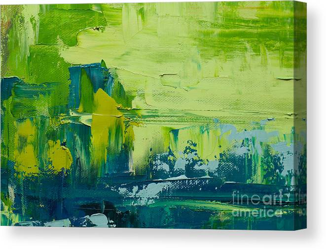 Paint Canvas Print featuring the photograph Abstract Art Background Oil Painting by Sweet Art