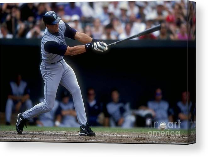 People Canvas Print featuring the photograph Alex Rodriguez by Doug Pensinger