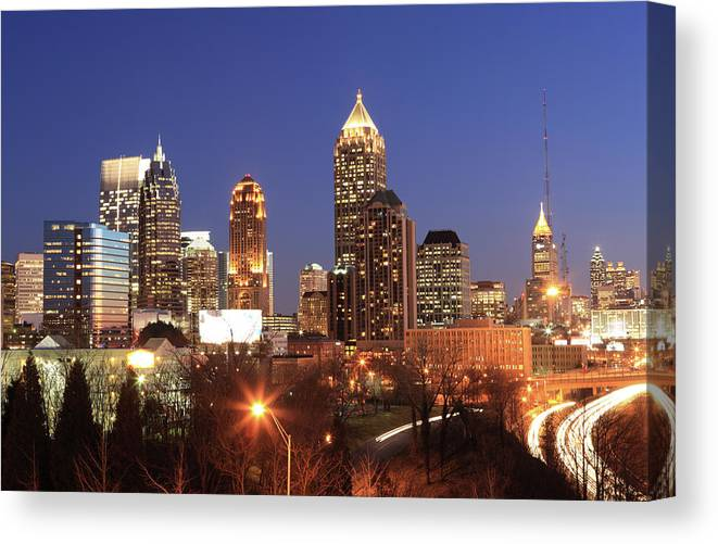 Atlanta Canvas Print featuring the photograph Atlanta, Georgia by Jumper