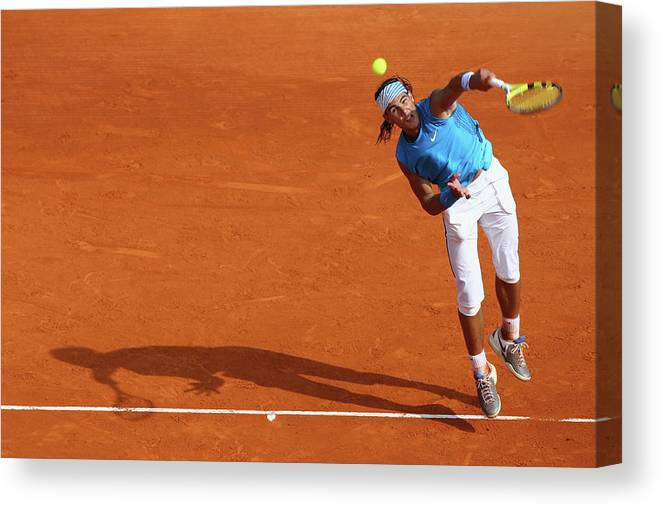 Tennis Canvas Print featuring the photograph Atp Masters Series by Michael Steele