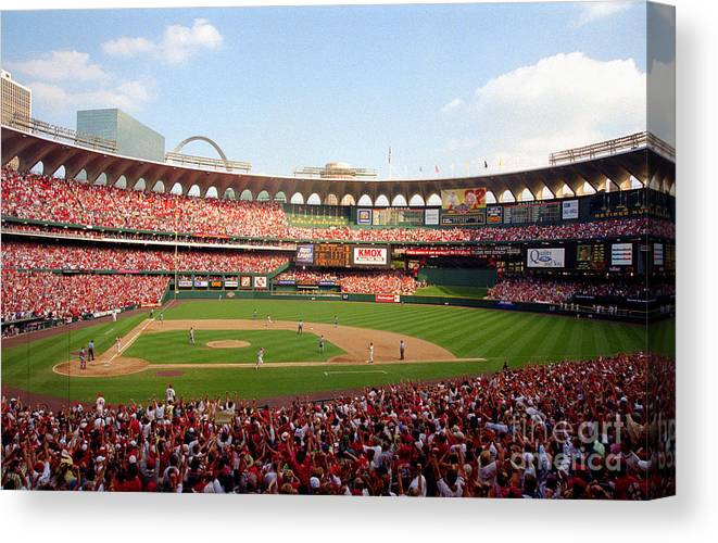 St. Louis Cardinals Canvas Print featuring the photograph Baseball - Mark Mcgwire by Icon Sports Wire